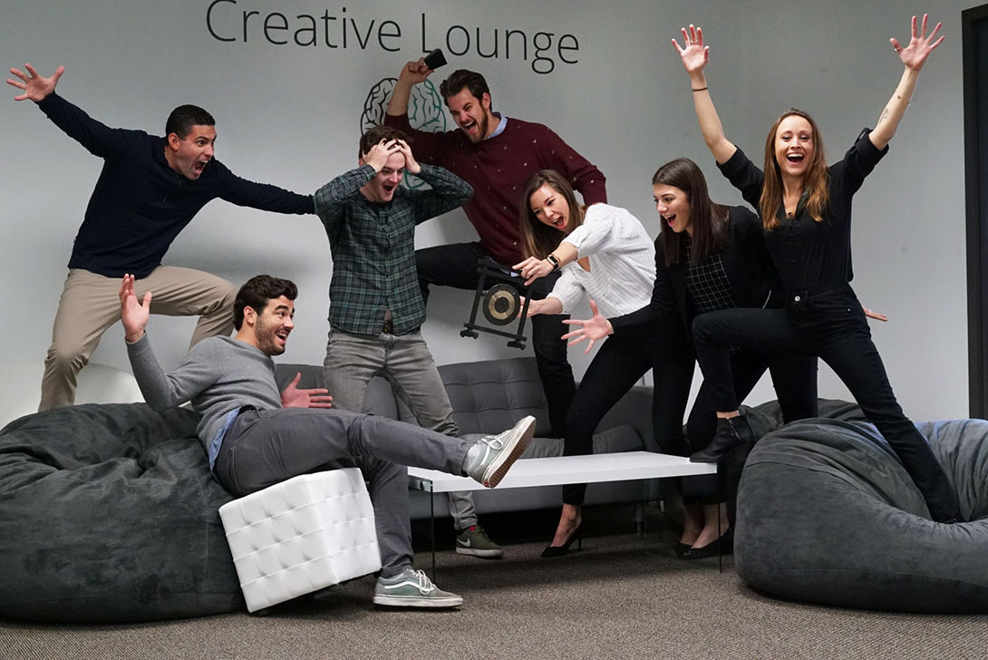 Marketing Team Photo Creative Lounge 1090